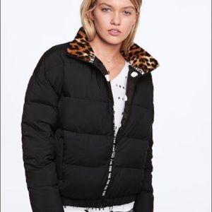 Vs PINK Sherpa Collar Puffer Jacket